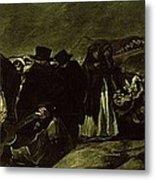 Pilgrimage To San Isidros Fountain, C.18213 Oil On Canvas Metal Print