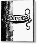 Pill Bottle, 19th Century Metal Print