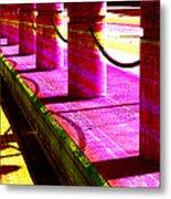 Pillars And Chains - Color Rays Metal Print