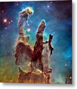 Pillars Of Creation In High Definition - Eagle Nebula Metal Print