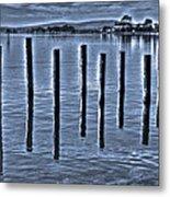 pillars on the Bay Metal Print