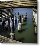 Pillars Over Pier 39 Waters... Metal Print