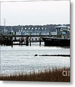 Pilot At The Dock Metal Print by John Rizzuto