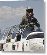 Pilot Standing In  A Socata Tb-30 Metal Print