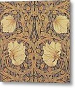 Pimpernel Wallpaper Design Metal Print by William Morris