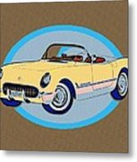 Pin Up Vette Metal Print