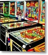 Pinball Alley Metal Print by Benjamin Yeager