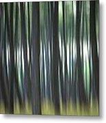 Pine Forest. Blurred Metal Print