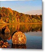 Pine Lake Reflection 3 Metal Print