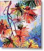 Pine Needle Fireworks Metal Print