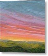 Pine Ridge Spring Sunset Metal Print