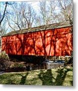 Pine Valley Covered Bridge In Bucks County Pa Metal Print