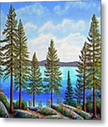 Pine Woods Lake Tahoe Metal Print