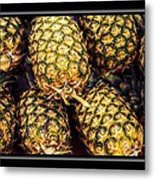 Pineapple Color Metal Print