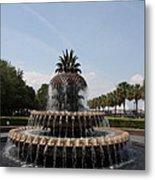 Pineapple Fountain Charleston Metal Print