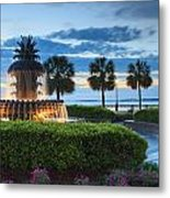 Pineapple Fountain Charleston South Carolina Sc Metal Print