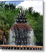 Pineapple Fountain Metal Print by Skip Willits