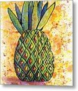 Pineapple Fun Metal Print