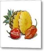Pineapple Habanero Muy Caliente   Metal Print