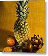 Pineapple Still Life Metal Print