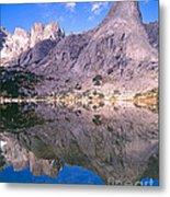 Pingora Peak On Lonesome Lake Metal Print