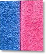 Pink And Blue Metal Print
