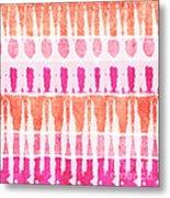 Pink And Orange Tie Dye Metal Print