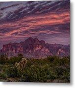 Pink And Purple Desert Skies  Metal Print