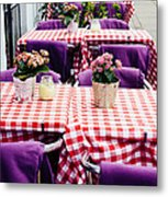Pink And Purple Dining Metal Print