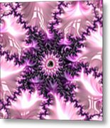 Pink And Purple Soft And Creamy Fractal Art Metal Print