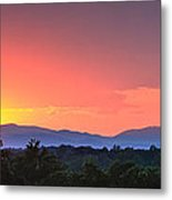 Pink Arc Above The Blue Ridge Metal Print