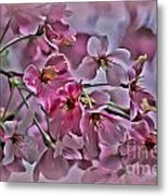 Pink Blossoms - Paint Metal Print