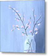 Pink Blossoms Metal Print by Glenda Barrett