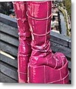 Pink Boots Metal Print