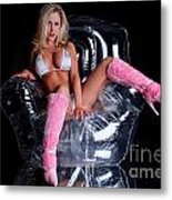 Pink Boots Metal Print
