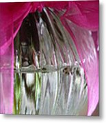 Pink Bowed Glass Metal Print