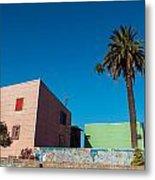 Pink Building In Historic Neighborhood Metal Print