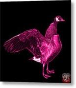 Pink Canada Goose Pop Art - 7585 - Bb  Metal Print