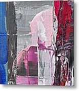 Pink Cat On The Window Metal Print