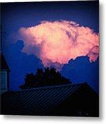 Pink Cloud Over Lexington Metal Print