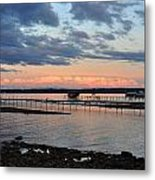 Pink Clouds On Grand Traverse Bay Metal Print