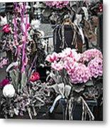 Pink Flower Arrangements Metal Print by Elena Elisseeva