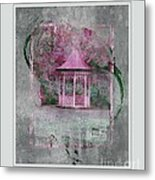 Pink Gazebo Metal Print