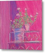 Pink Geraniums Metal Print by Marcia Meade