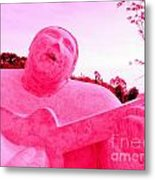 Pink Guitarist Metal Print