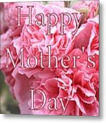 Pink Hollyhock Mother's Day Card Metal Print