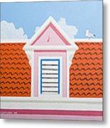 Pink House Metal Print