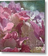 Pink Hydrangea Photoart I Metal Print