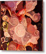 Pink Iris As A Burst Of Color Flower Abstract Art Metal Print