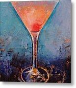 Pink Lemonade Martini Metal Print